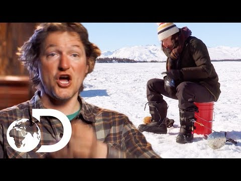 Finding The Best Ice Fishing Spot On A Frozen Alaskan Lake | Alaska: The Last Frontier