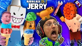Roblox JERRY & GEARHEAD Escape!  SAVE Puppy from Ice Scream Man (FGTeeV in Factory Floor Ch 2)