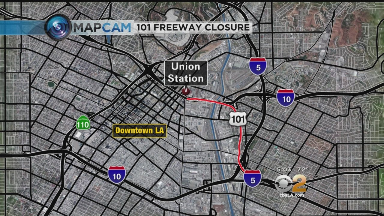 101 Freeway Closure Starts Friday Night For Bridge Demolition