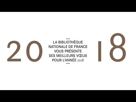 La BnF Bibliothèque nationale de France vous souhaite ses meilleurs vœux pour l