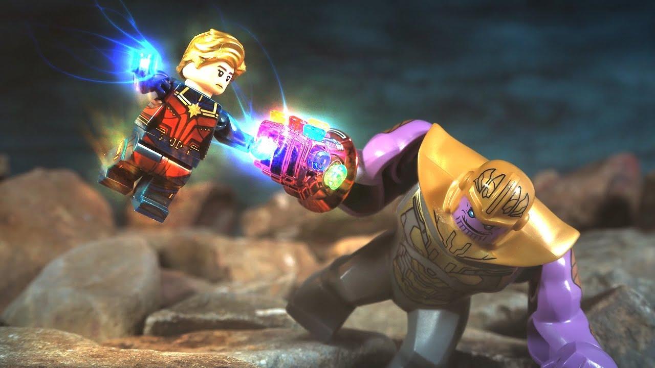 Lego Avengers Endgame Final Battle Captain Marvel Vs Thanos Lego Stop Motion