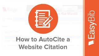 How to AutoCite a Website Citation on EasyBib