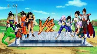 La familia de goku vs La familia de vegeta | dragon ball z budokai tenkaichi 3 version latino