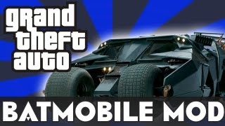 GRAND THEFT AUTO IV : BATMOBILE (MOD)