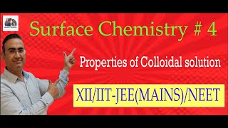 surface chemistry. Physical properties of colloidal solution like Tyndall effect, Brownian movement.