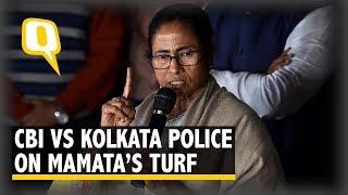 CBI vs Kolkata Police: Mamata Banerjee Sits on 'Save the Constitution' Dharna | The Quint