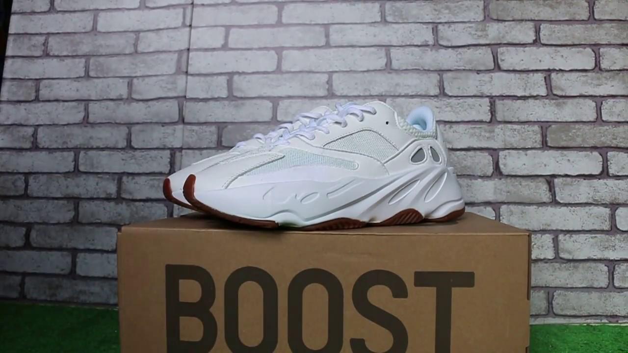 37b076132628e Adidas Yeezy Wave Runner 700 Boost White Gum - YouTube