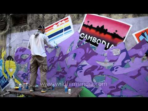 Delhi's outdoor graffiti art