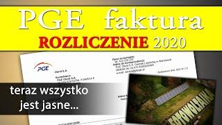 FAKTURA z PGE za rok 2020 - Fotowoltaika 10kWp