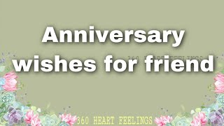 Happy anniversary to you both | Marriage anniversary wishes whatsapp status | 360 heart feelings