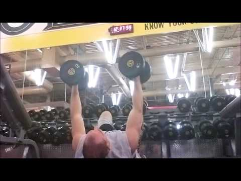 wk 3 day (1,5)  db floor press, hang cleans