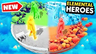 NEW Elemental Heroes In TABS! Which Is BEST? (Totally Accurate Battle Simulator Funny Gameplay)