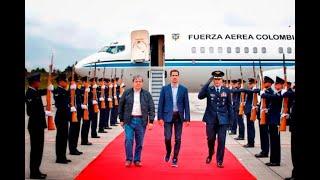 Juan Guaidó llega a Bogotá donde, dice, luchará por Venezuela