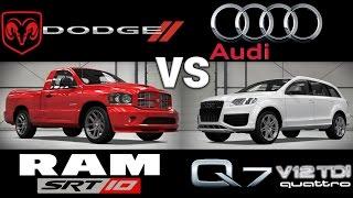 Dodge RAM SRT-10 Vs Audi Q7 V12 TDI / 3 Rounds Drag Race // Forza 4
