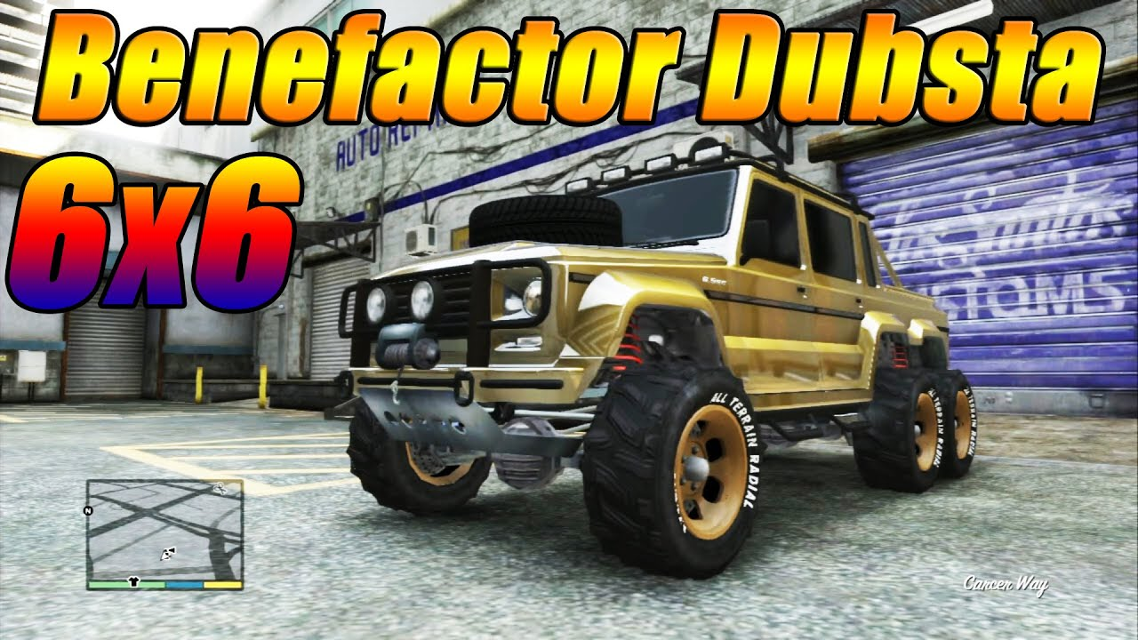 Gta 5 benefactor dubsta 6x6 customization guide speed test fully upgraded off road vehicle