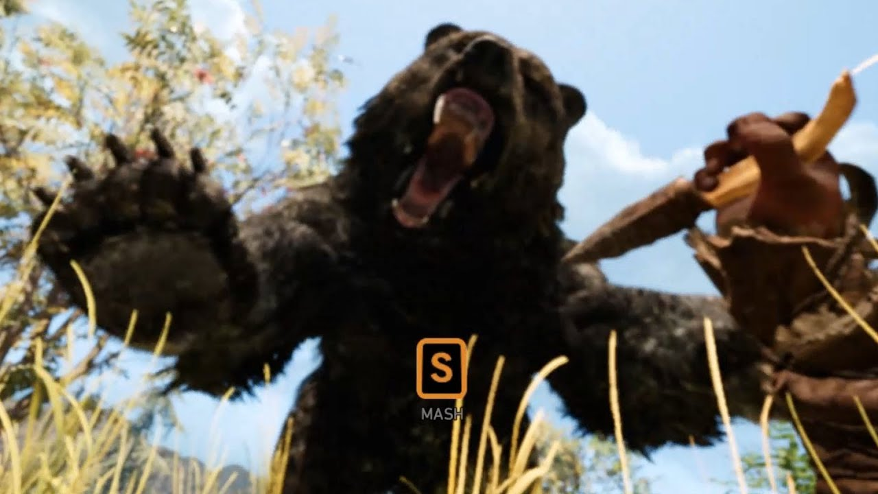Far Cry Primal Hunting Cave Bear Location Free Roam Gameplay