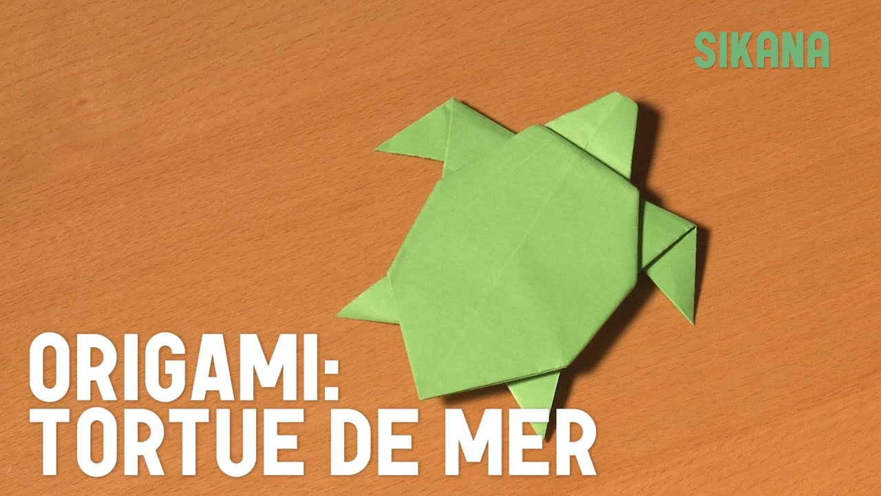 Tortue en papier youtube - Pliage origami simple ...