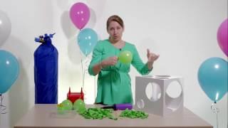 7ой видео урок по аэродизайну, как создать гирлянду из воздушных шаров