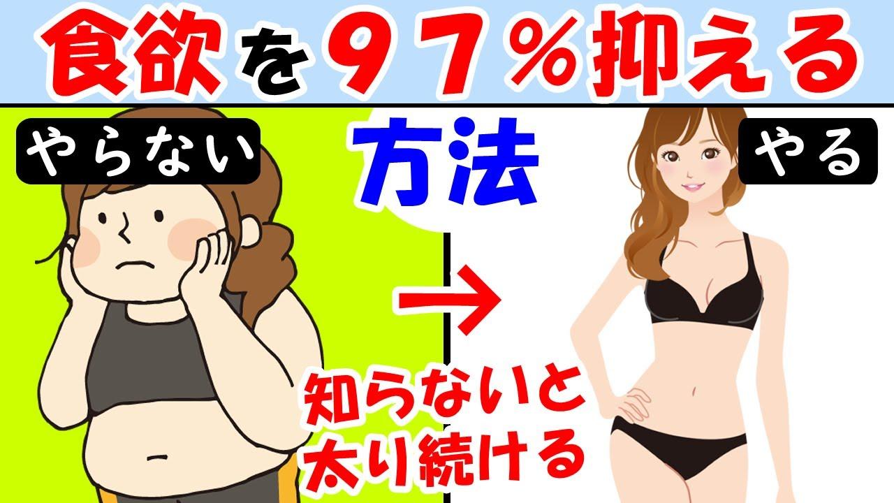 ダイエットする前に絶対見て!食べ過ぎを97%抑える方法【太ったお腹|痩せない|減らない|リバウンド|痩せる】食欲を抑える効果
