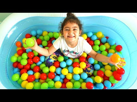 Color song , Learn Colors Ball with Mommy,Öykü and  cute characters