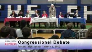 Sentinel Reports: Fortuna Congressional Debate