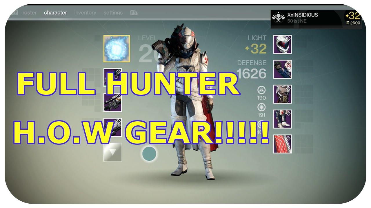 Destiny House Of Wolves Full Hunter Gear Legendary Opening