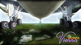 ✈  FSX  Austrian Airlines A330-200 Approach to Vie