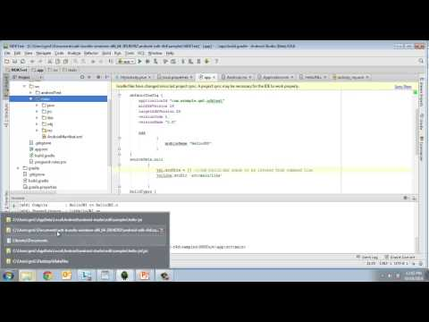 Building NDK apps with Android studio