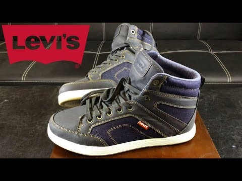 Levi's Denim High Top Shoes - YouTube