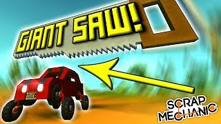 GIANT SAW, ROCKET SKI and MORE ! (Speed Builds Ep 10) - Scrap Mechanic Gameplay
