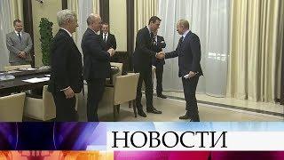 В Ново-Огарево прошла встреча президента Владимира Путина и представителей французского бизнеса.