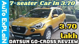 Datsun Go Cross Review ||Alloy Wheel, Projector With DRL, 6.5 Infotainment,CVT, Most Affordable Ever