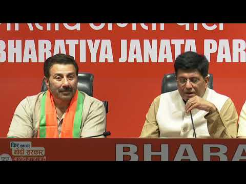 Actor Sunny Deol joins Bharatiya Janata Party in New Delhi : 23.04.2019