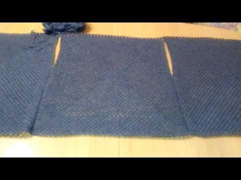 Безрукавка крючком из двух полотен