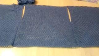 Вязание: жилетка из трех бабушкиных квадратов /мое продвижение