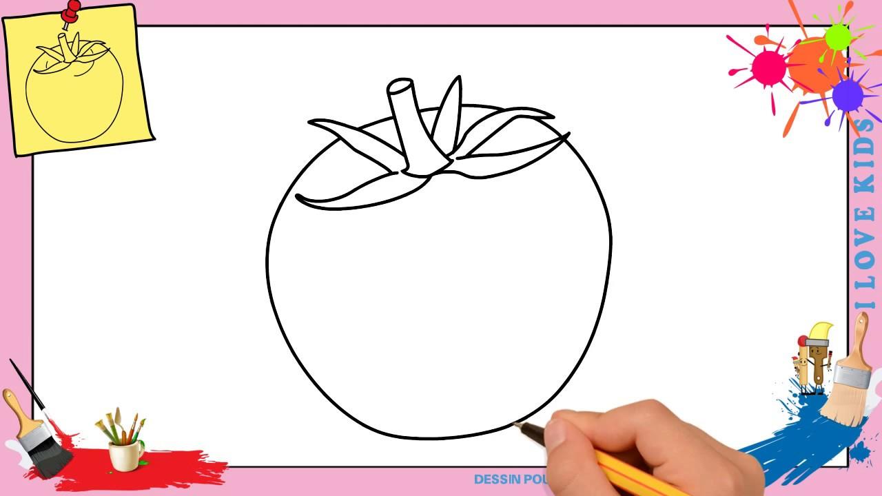Dessin tomate facile comment dessiner une tomate facilement etape par etape youtube - Tomate dessin ...