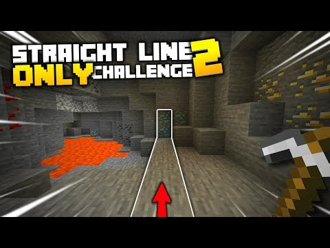 Minecraft, But I Can Only Walk In A Straight Line... AGAIN (#2)