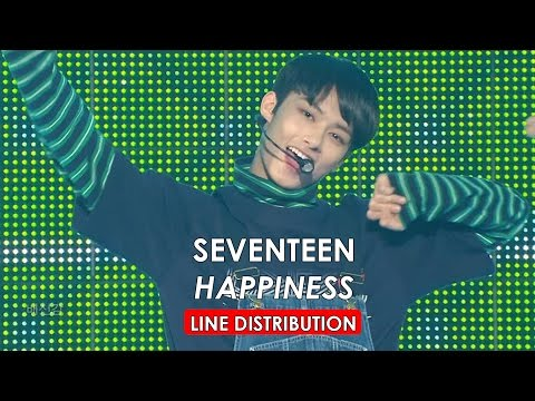 SEVENTEEN - Happiness Line Distribution (Color Coded)