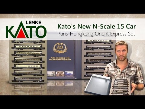 Kato's New N-Scale 15 Car Paris-Hongkong Orient Express Set