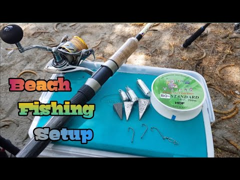 BEACH FISHING SETUP | SHORE CASTING TIPS