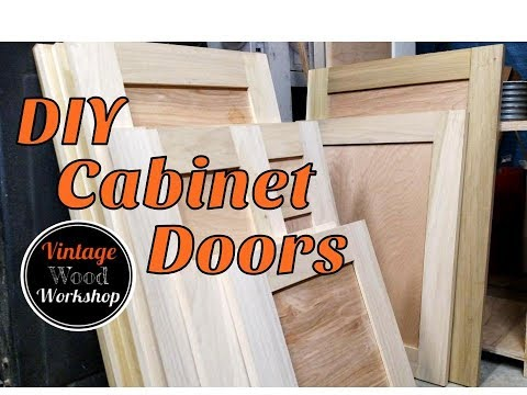 DIY Tongue and Groove Hardwood Cabinet Doors. Kitchen Remodel #1- Vintage Wood Workshop
