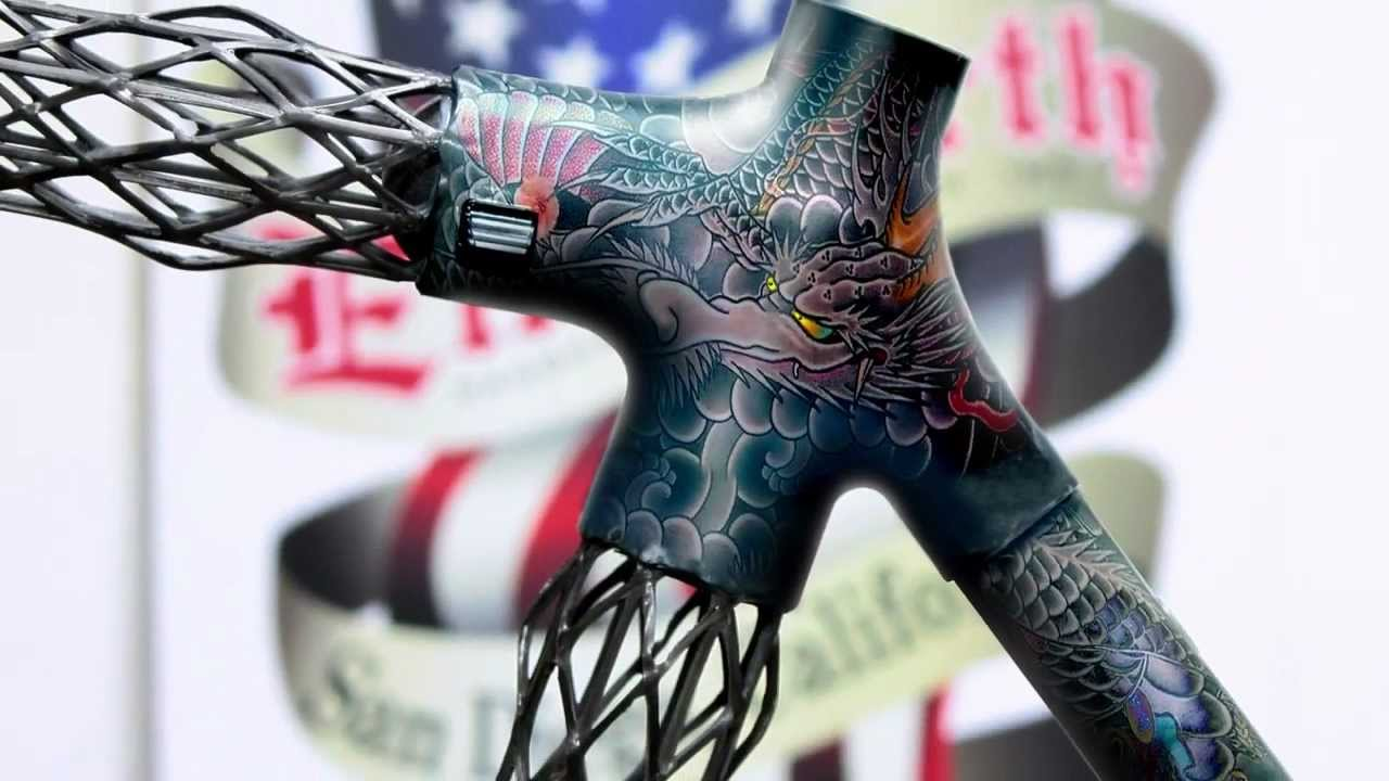 Delta 7 road carbon frame tattoo art Painting - YouTube