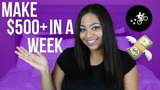 HOW I MADE OVER $500 IN 1 WEEK ON POSTMATES | SIDE HUSTLES 101