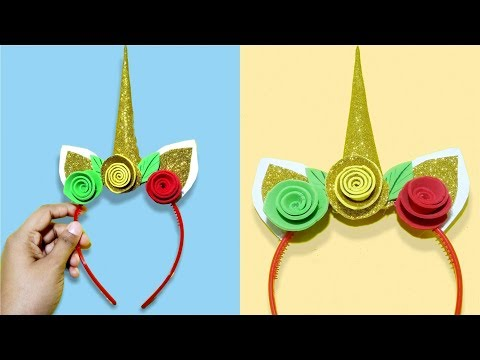 unicorn horn headband for kids - [diy] how to make unicorn headbands- Tuber Tip