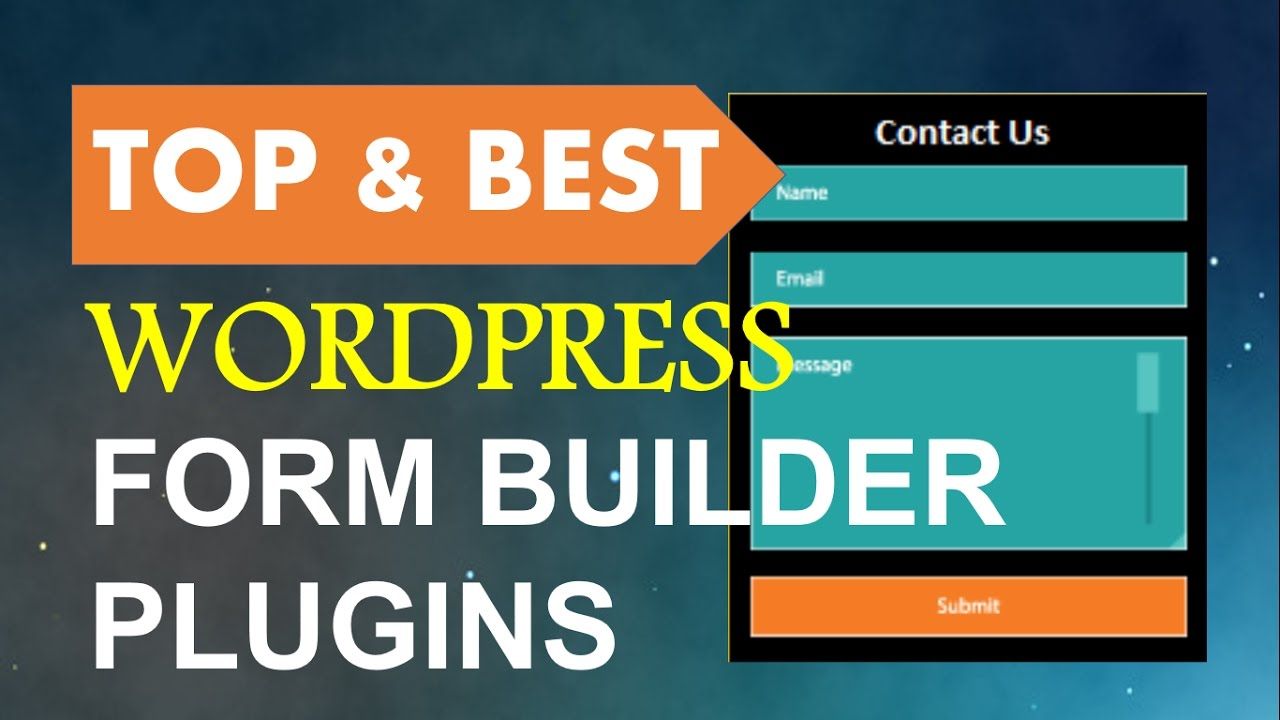 Top and Best Wordpress Form Builder Plugins | Contact Form Plugins ...