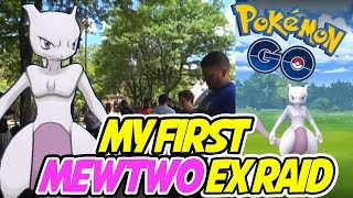 MEWTWO EX RAID in POKEMON GO! My First Ever Mewtwo EX Raid LIVE!