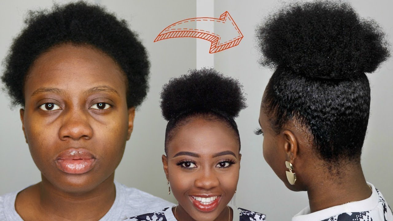 hair puff style hair shrinks best way to high puff on 4c 7437 | maxresdefault