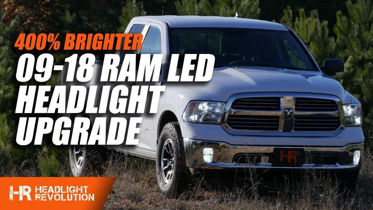 2009 2018 Dodge Ram Reflector Single Beam Led H11 Low Bulbs Upgrade Headlight Revolution