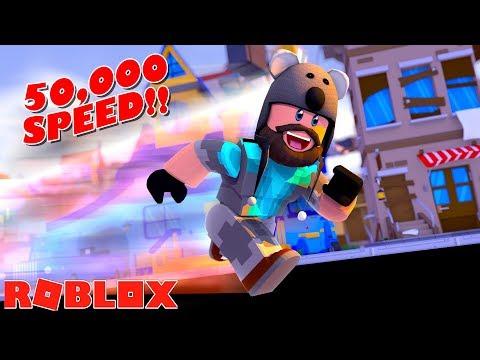 ROBLOX SPRINTING SIMULATOR - 50,000 SPEED!!