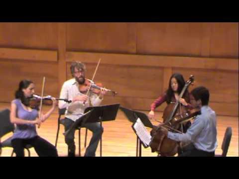 Bryant Park Quartet Bartok String Quartet No2 2nd mvmnt